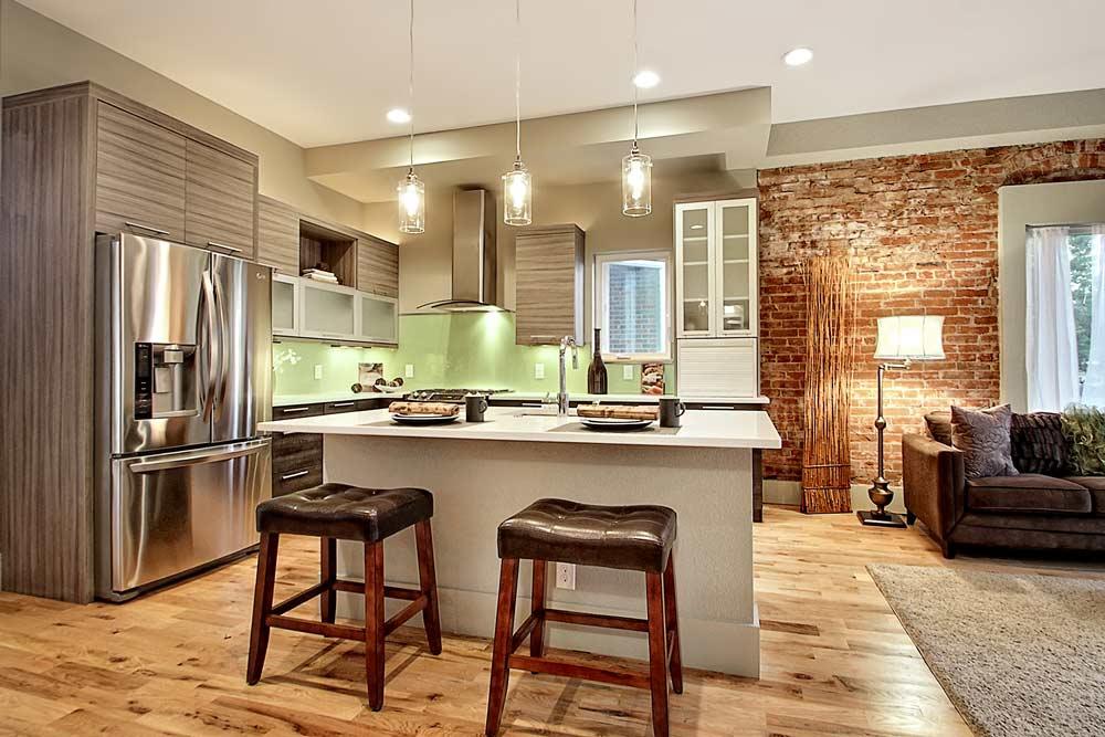 Lafayette Modern Duplex Kitchen - Interior Designer Denver CO
