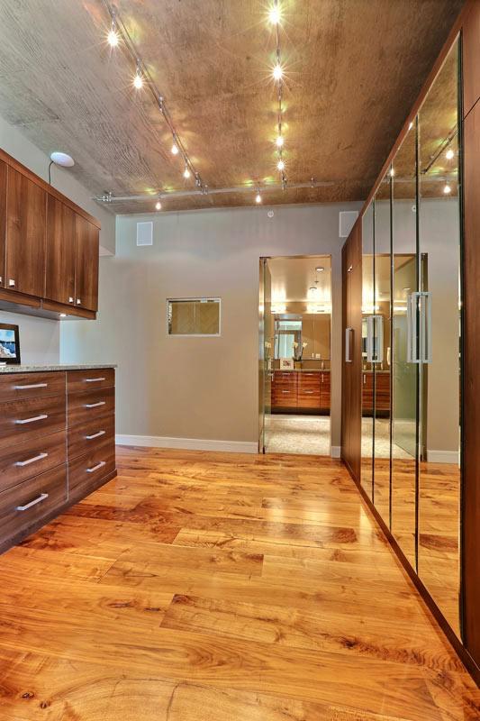 Penthouse Master Bedroom Interior Designer Denver